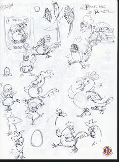 Imagein That! Design rooster sketches developing characters for Rooster Race Game