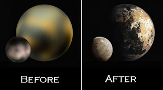pluto befor and after pics