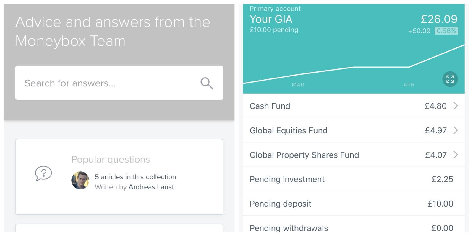 moneybox investments