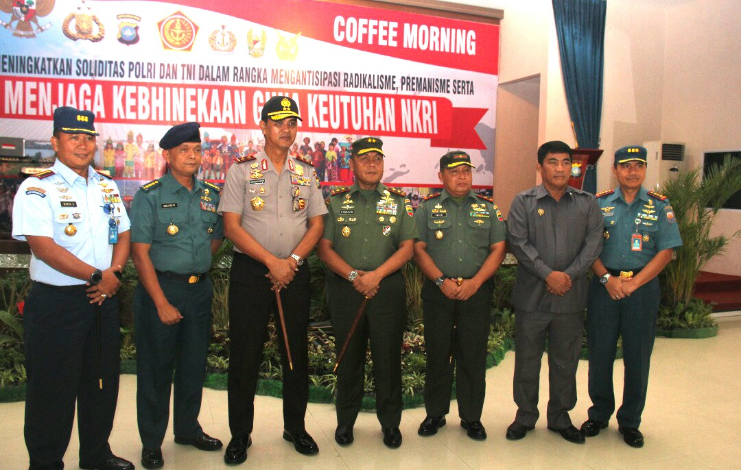 TNI - Polri gelar Coffe Morning
