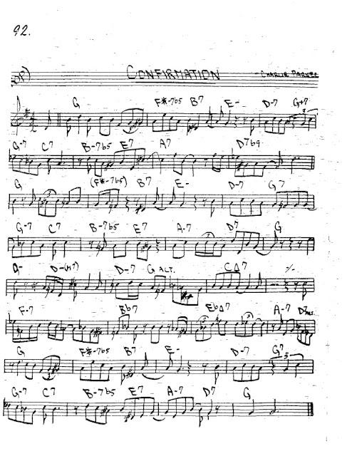 Partitura Trompeta Charlie Parker