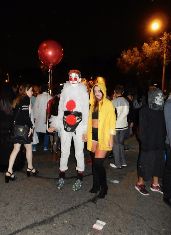 West Hollywood Halloween IT movie costumes