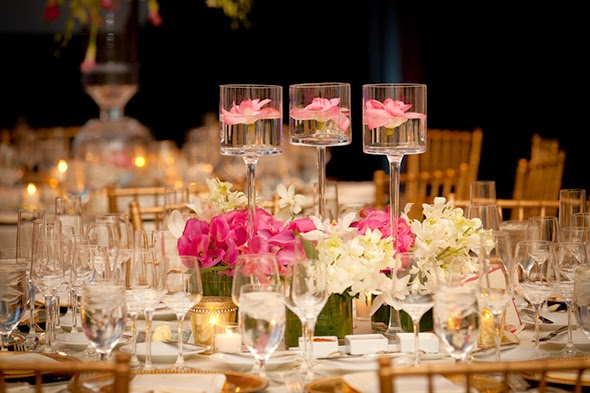 potted orchid centerpieces for weddings