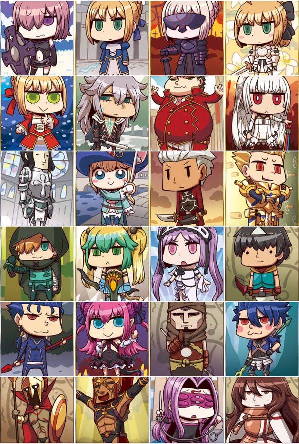 Fate/Grand Order - swoją drogą niezłe avatary
