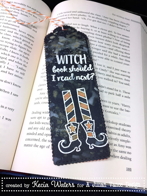 AJVD, Kecia Waters, bookmark, Distress Oxides, Halloween
