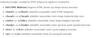 html etiketler