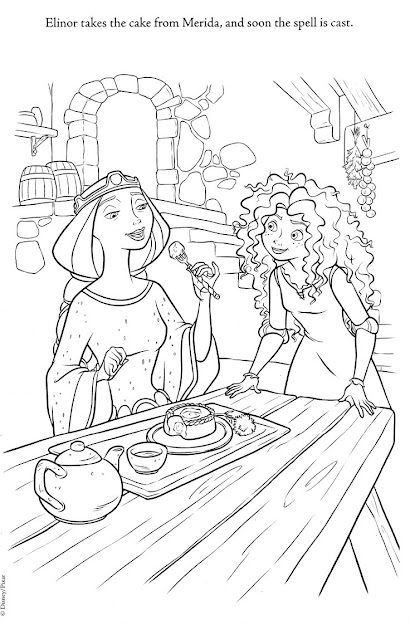 Brave And Other Disney Coloring Pages