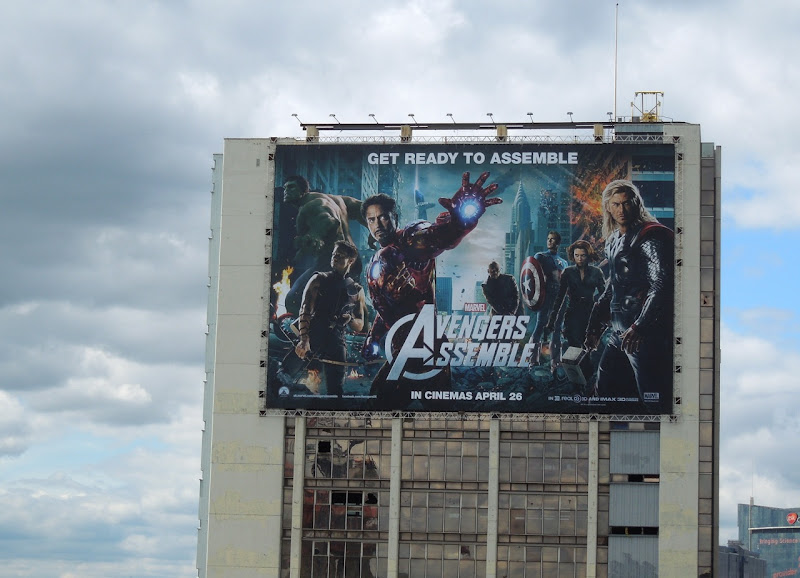 Avengers Assemble billboard London
