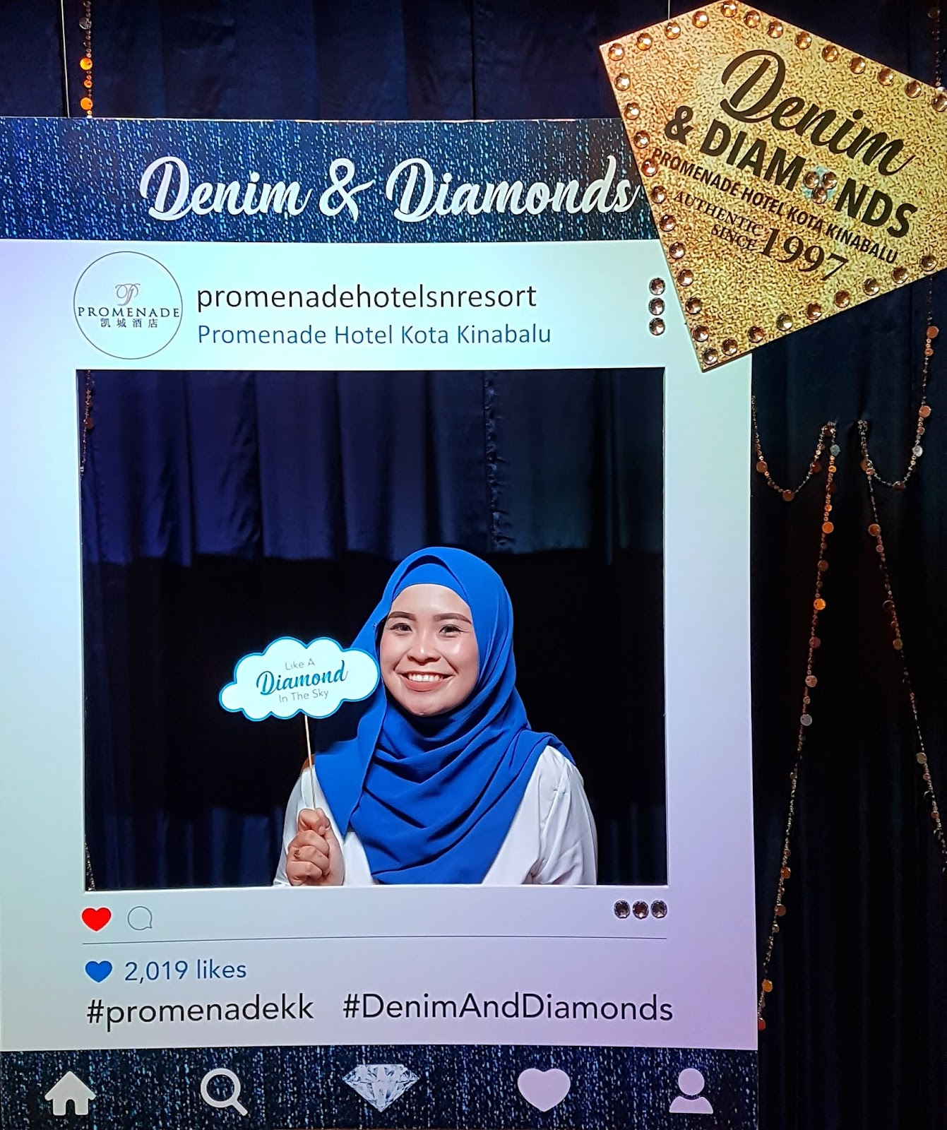 Makan Malam Bertemakan Denim Diamonds Bersama Promenade Hotel Kota Kinabalu Junzie Life Is A Beautiful Struggle