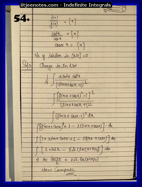 Indefinite Integrals-online study3
