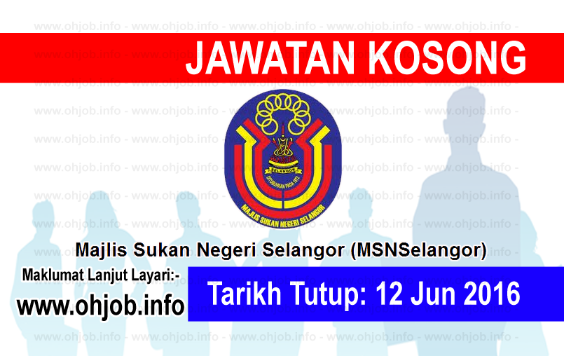 Jawatan Kerja Kosong Majlis Sukan Negeri Selangor logo www.ohjob.info jun 2016