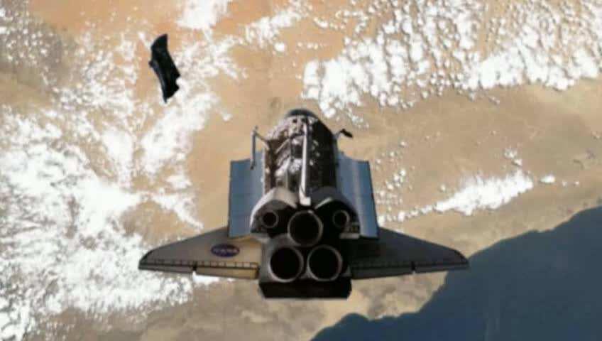 Satelliet KNIGHT BLACK - het buitenaardse schip