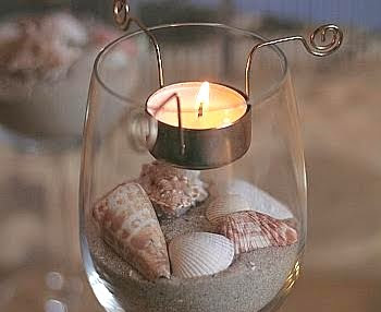 tea light candle holder inserts in glasses