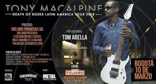 Concierto de Tony MacAlpine en Bogotá