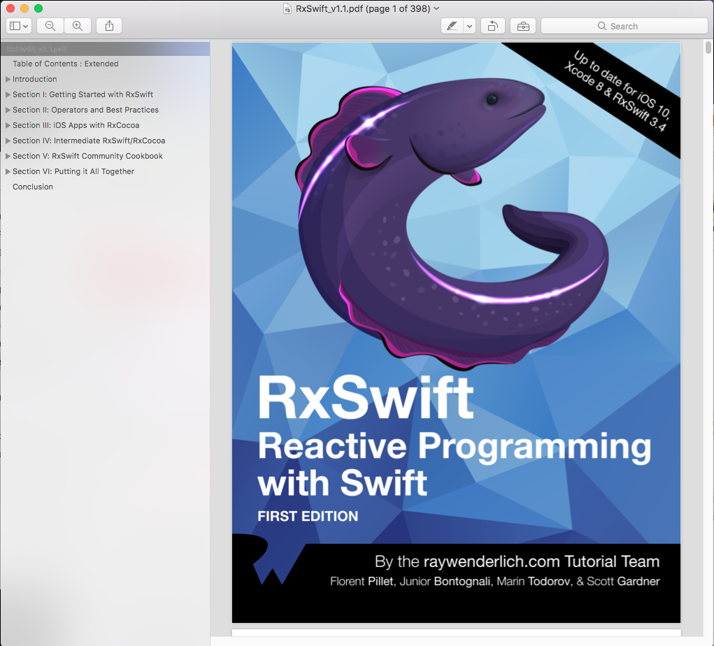 Download Rxswift Reactive Programming With Swift First Edition Pdf File  Full Source Code
