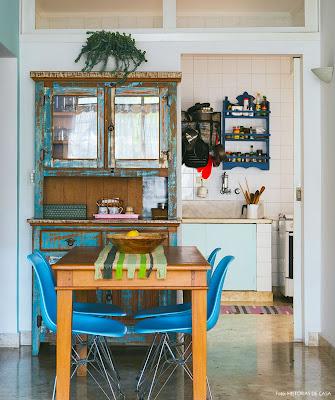 decoração com móveis rústicos de sala de jantar