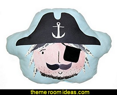 Pirates Ahoy Pillow  pirate bedrooms - pirate themed furniture - nautical theme decorating ideas - pirate theme bedroom decor - Peter Pan - Jake and the Never Land Pirates - pirate ship beds - boat beds - pirate bedroom decorating ideas - pirate costumes
