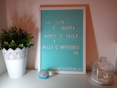 HOME SHAPED LETTER BOARD