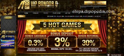 Gambar Beranda Situs Web VIPBANDARQ - Chips