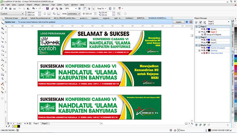 Template banner spanduk tema islami coreldraw (cdr ...