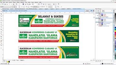 Template banner spanduk tema islami coreldraw (cdr) editable