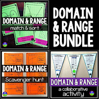 Domain and Range activities bundle