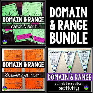 Domain and Range activities bundle
