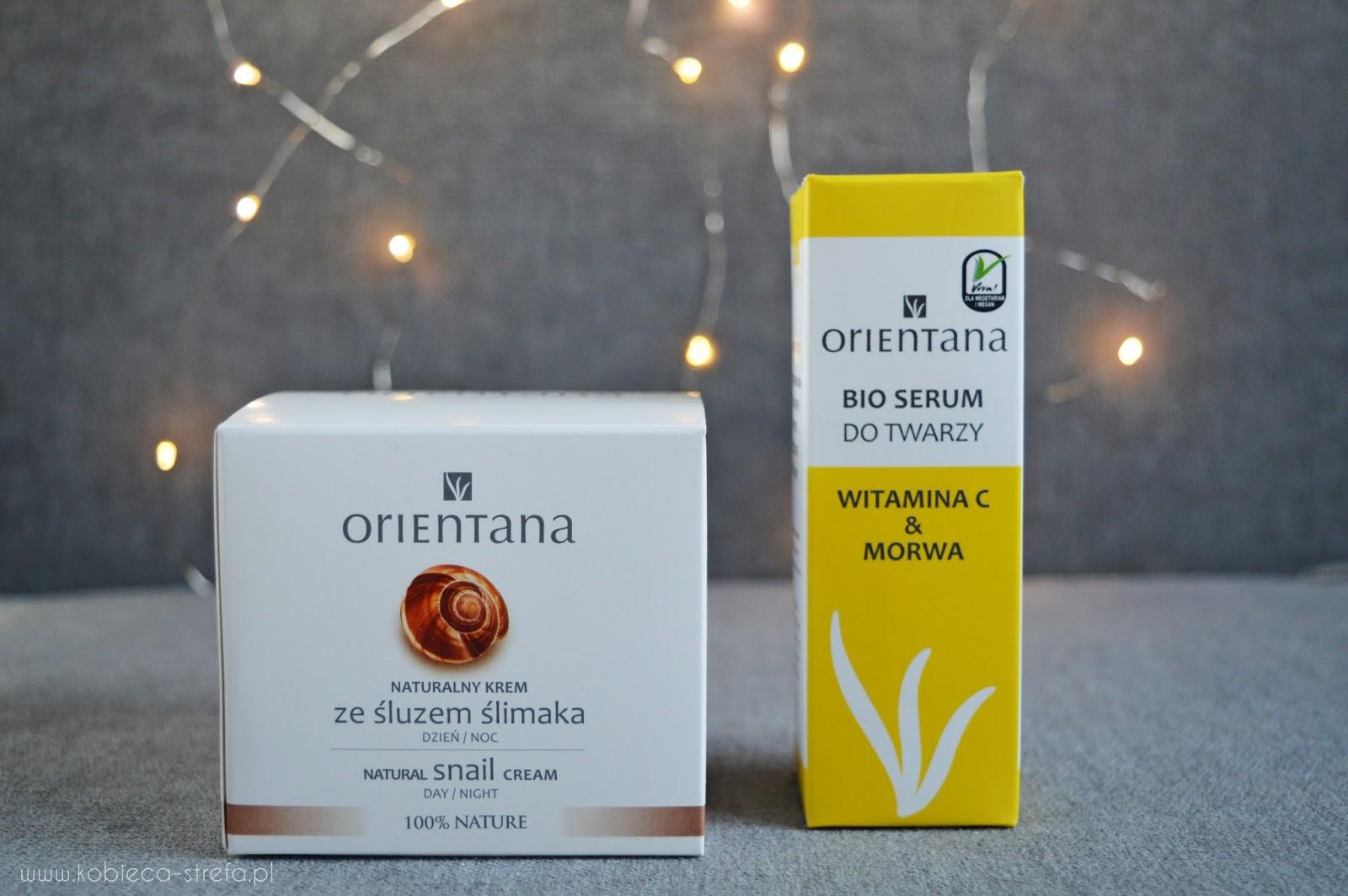 Orientana - krem ze śluzem ślimaka i bio serum do twarzy z witaminą C & morwą