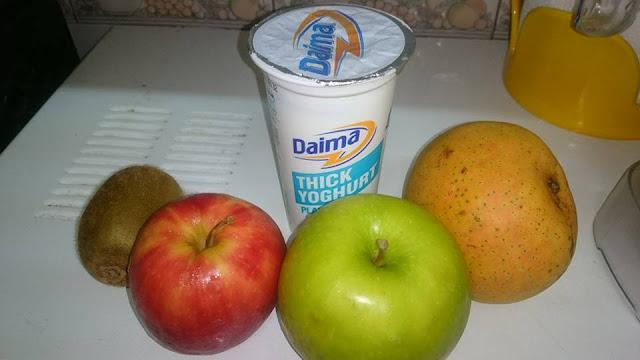 Mango, Apple, Yogurt and Kiwi