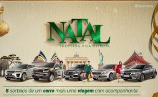 Promoção Shopping Vila Olímpia Natal 2017 Carros Zero Viagem Acompanhante