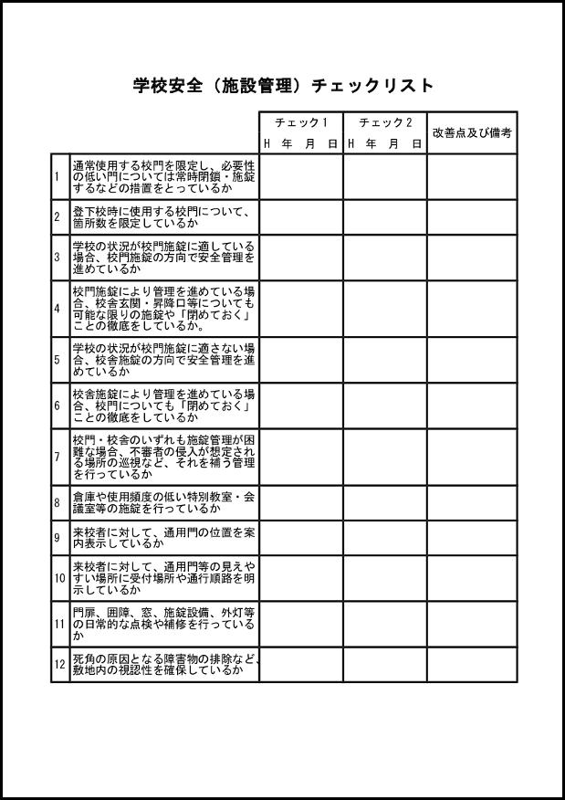 学校安全(施設管理)チェックリスト 005