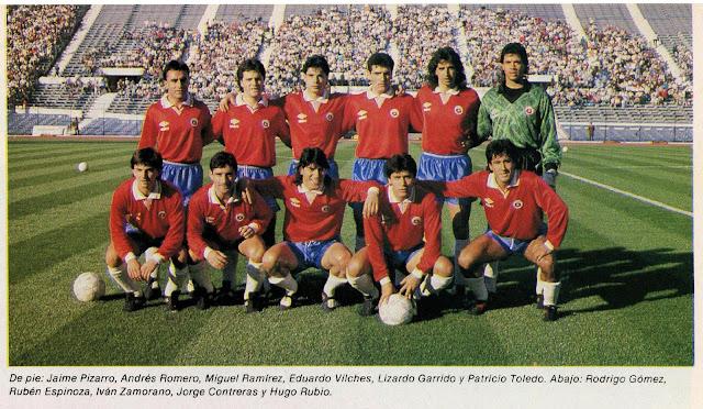 Formación de Chile ante Ecuador, amistoso disputado el 30 de junio de 1991