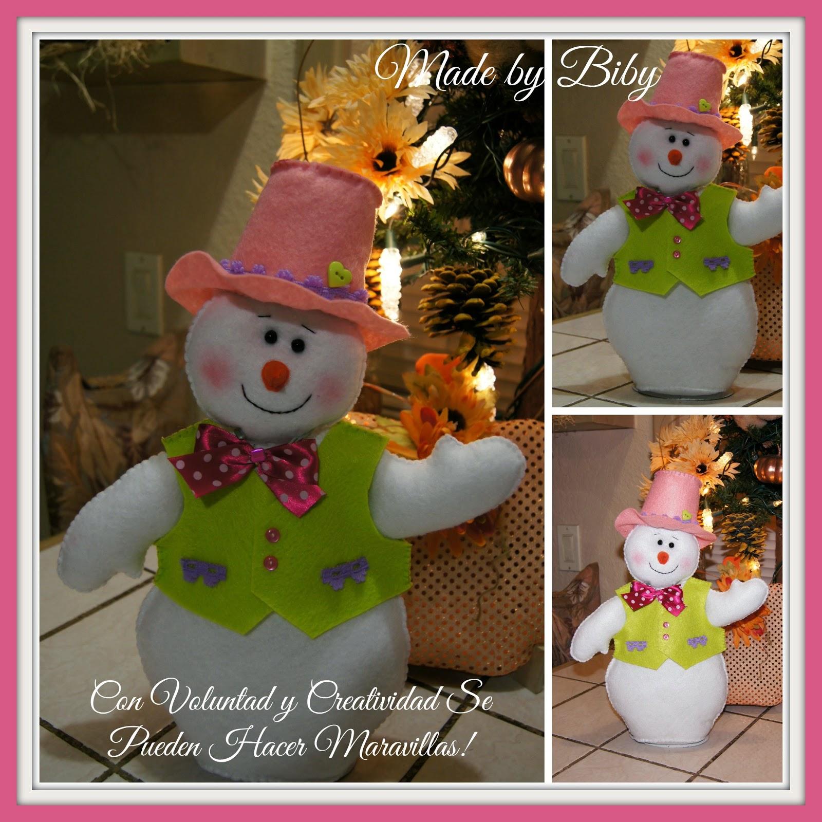 Con voluntad y creatividad se pueden hacer maravillas - Manualidades munecos de navidad ...