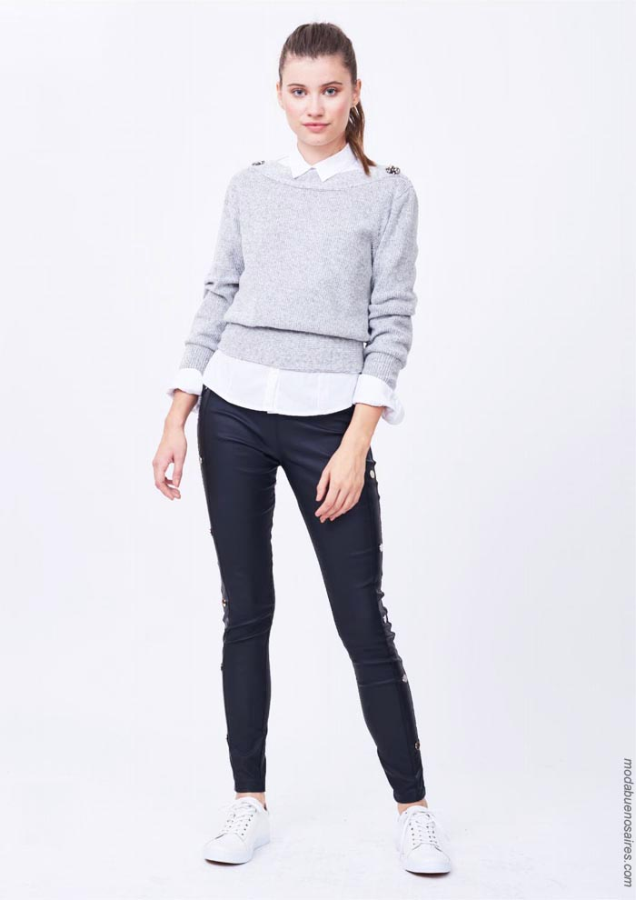 Sweaters tejidos otoño invienro 2019. │ Moda otoño invierno 2019.