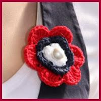 Flor 4 de julio a crochet