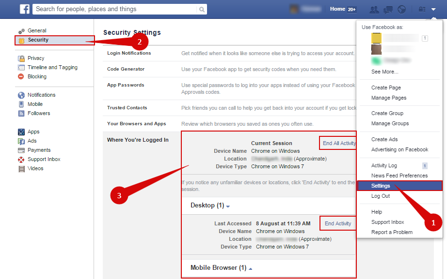 How to Track Facebook Log-in Locations?