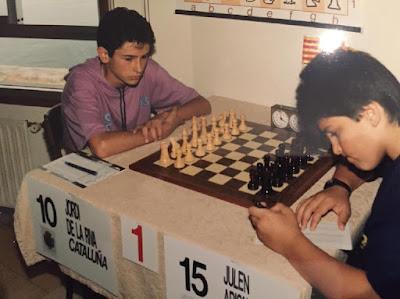 Campeonato Infantil de España 1989, partida de ajedrez De la Riva-Arizmendi