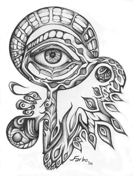 Psychedelic Coloring Pages Easy
