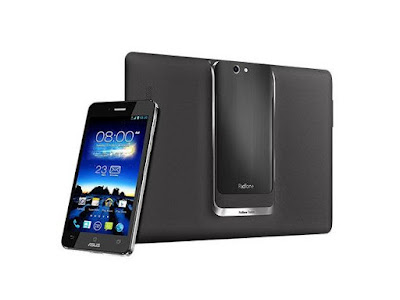 Asus PadFone Infinity Specifications - LAUNCH Announced 2013, February Also Known As Asus PadFone Infinity (A80) DISPLAY Type Super IPS+ LCD capacitive touchscreen, 16M colors Size 5.0 inches (~66.0% screen-to-body ratio) Resolution 1080 x 1920 pixels (~441 ppi pixel density) Multitouch Yes, up to 10 fingers Protection Corning Gorilla Glass BODY Dimensions 143.5 x 72.8 x 8.9 mm (5.65 x 2.87 x 0.35 in) Build  Weight 141 g (4.97 oz) SIM Nano-SIM  - Padfone Station with 10.1 inches IPS display, 1920 x 1200 pixels, 5000 mAh battery, 1 MP front camera. 264.6 x 181.6 x 10.7mm, 530g. PLATFORM OS Android OS, v4.1.2 (Jelly Bean), upgradable to v4.4.2 (KitKat) CPU Quad-core 1.7 GHz Krait Chipset Qualcomm APQ8064T Snapdragon 600 GPU Adreno 320 MEMORY Card slot No Internal 32/64 GB, 2 GB RAM CAMERA Primary 13 MP, autofocus, LED flash Secondary Secondary 2 MP, 1080p@30fps Features Geo-tagging, touch focus, face detection Video 1080p@30fps NETWORK Technology GSM / HSPA / LTE 2G bands GSM 850 / 900 / 1800 / 1900 3G bands HSDPA 900 / 2100 4G bands LTE band 1(2100), 3(1800), 7(2600), 20(800) Speed HSPA 42.2/5.76 Mbps, LTE Cat3 100/50 Mbps GPRS Class 10 EDGE Class 10 COMMS WLAN Wi-Fi 802.11 a/b/g/n/ac, dual-band, Wi-Fi Direct, hotspot NFC Yes GPS Yes, with A-GPS, GLONASS USB microUSB v2.0 (SlimPort TV-out), USB Host Radio FM radio Bluetooth v4.0, A2DP FEATURES Sensors Accelerometer, gyro, proximity, compass Messaging SMS(threaded view), MMS, Email, Push Email, IM Browser HTML5 Java No SOUND Alert types Vibration; MP3, WAV ringtones Loudspeaker Yes 3.5mm jack Yes  - Active noise cancellation with dedicated mic BATTERY  Non-removable Li-Po 2400 mAh battery Stand-by Up to 410 h Talk time Up to 19 h Music play  MISC Colors Titanium Gray, Champagne Gold, Hot Pink  - ASUS WebStorage (50 GB storage) - MP3/WAV/eAAC+ player - MP4/H.264 player - Document viewer - Photo viewer/editor