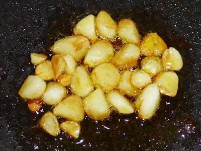 納豆にニンニクオリーブオイル(炒め)