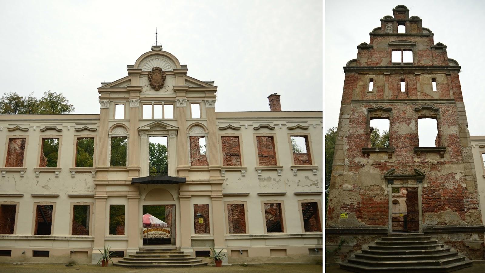 Ruiny pałacu w Żmigrodzie