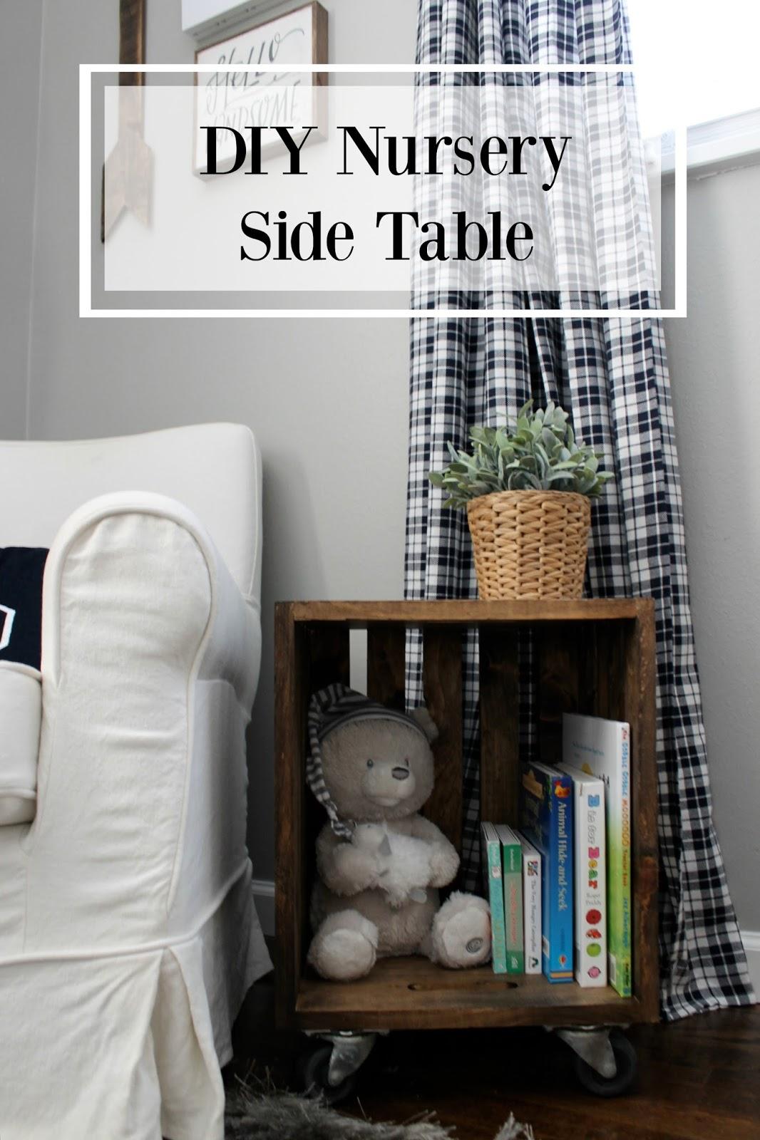 Wonderfully Made Diy Nursery Side Table