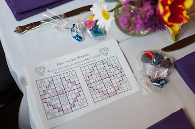 zero-waste wedding favor ideas sudoku game