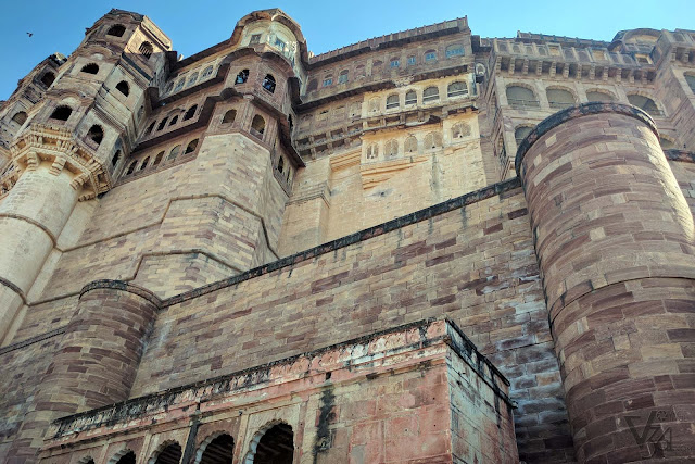 The colossal Mehrangarh Fort