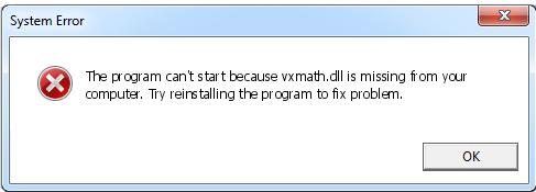 Télécharger Vxmath.dll Fichier Gratuit Installer