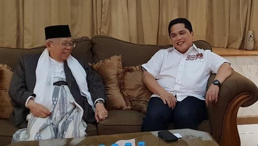 Prabowo Mengejar Jokowi di Survei, Ini Kata Erick Thohir