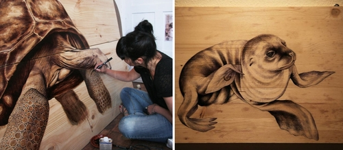 00-00-Martina-Billi-Recycled-Wooden-Planks-Used-to-Draw-Animals-www-designstack-co