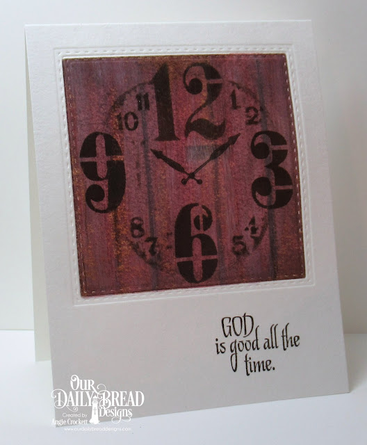 ODBD God's Timing, ODBD Custom Double Stitched Squares Dies, Card Designer Angie Crockett