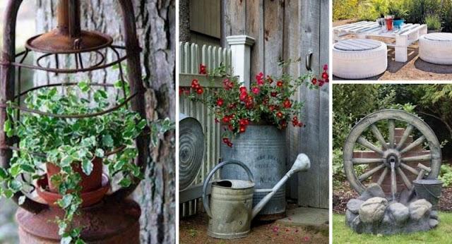 Κατασκευές για Κήπο-Μπαλκόνι από Παλιά-Άχρηστα αντικείμενα