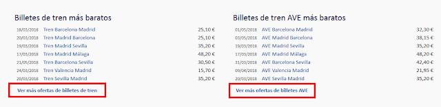 Ver ofertas billetes tren y AVE en Trenes.com